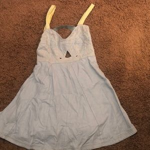 Altar'd State Chambray Fit and Flare Dress Small